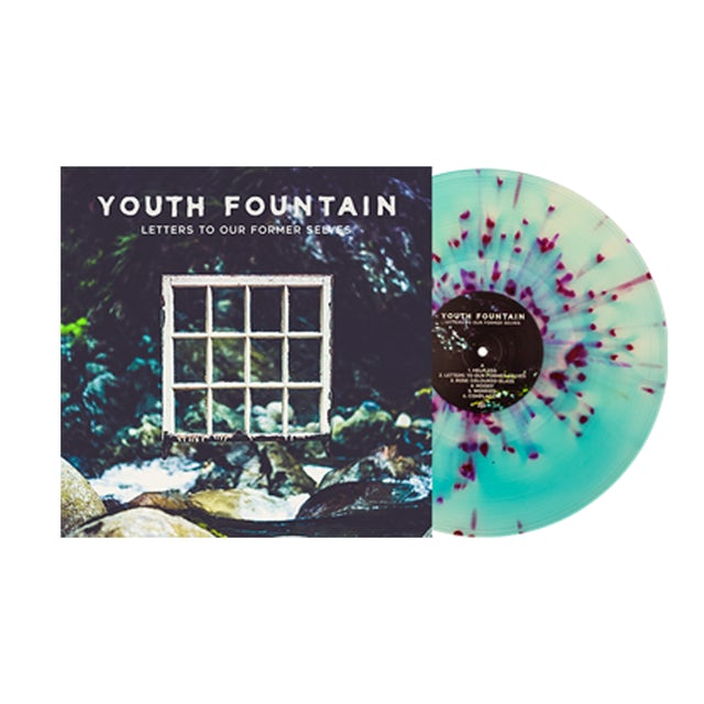 "Youth Fountain Letters to our Former Selves 12"" Vinyl (Aside / Bside Electric Blue & Milky Clea  w/ heavy Deep Purple & White Splatter)"