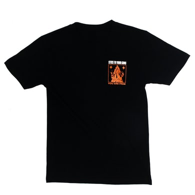 Stick To Your Guns You Are Free Pocket Tee (Black)