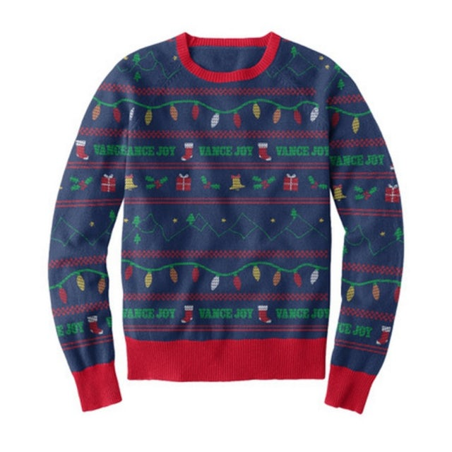 Vance Joy Limited Edition Holiday Sweater (Navy/Red/Green)