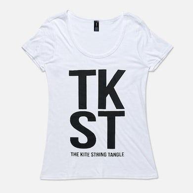 The Kite String Tangle TKST (Womens White Tee)