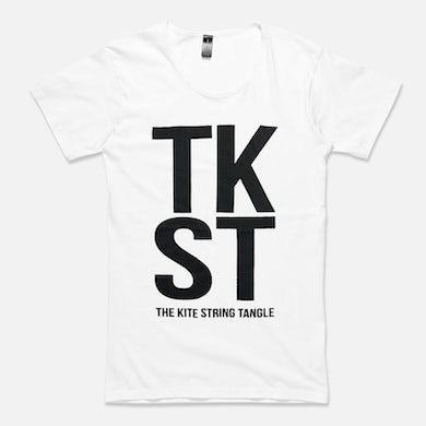 The Kite String Tangle TKST (Mens White Tee)