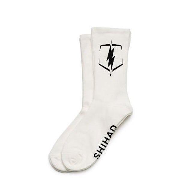 Shihad Bolt Socks (White)