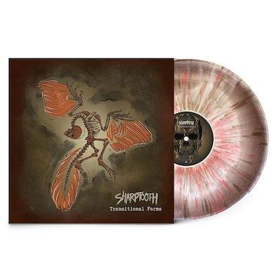 Sharptooth Transitional Forms LP (Brown/Bone Aside Bside w/ Heavy Gold/Oxblood splatter) (Vinyl)