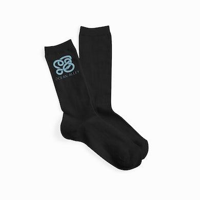 Ocean Alley Snake Socks (Black)