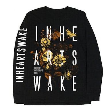 In Hearts Wake Wildflower Organic Longsleeve (Black/Yellow)