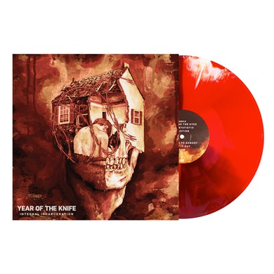 Year of the Knife Internal Incarceration LP (Blood Red w/ Oxblood and Bone Twist) (Vinyl)