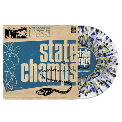 State Champs Unplugged EP (Clear w/ Heavy Cyan Blue, Black and Easter Yellow Splatter) // PREORDER