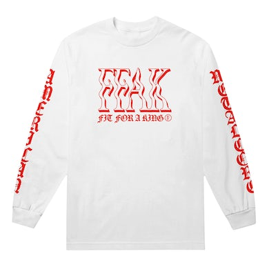 FIT FOR A KING Blackletter Longsleeve (White) // PREORDER