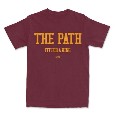 FIT FOR A KING Varsity Tee (Maroon) // PREORDER