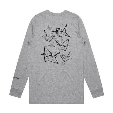 Agnes Manners Origami Cranes Longsleeve (Grey)