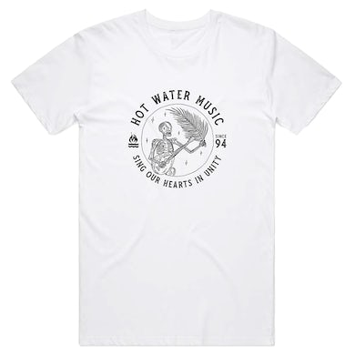 Hot Water Music Sing Our Hearts Tee (White)