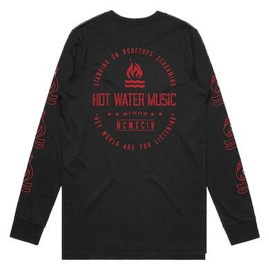 Hot Water Music Rooftops Longsleeve (Black)