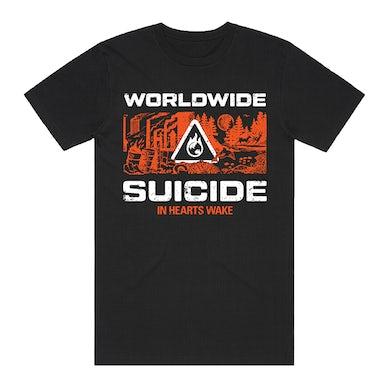 In Hearts Wake Worldwide Suicide Tee (Black/Orange)