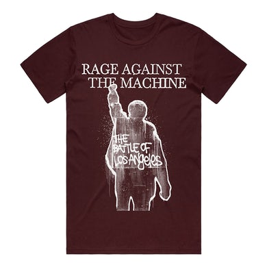 Rage Against The Machine The Battle of Los Angeles Tee (Burgundy)