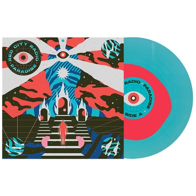 """Paradise 12"""" Vinyl (Neon Pink in Electric Blue) // PREORDER"""