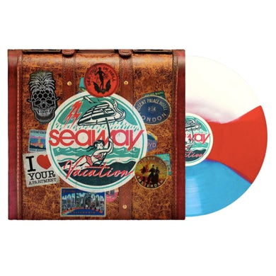 "Vacation 12"" Vinyl (Cyan Blue/Red/White Striped Tri-Colour)"