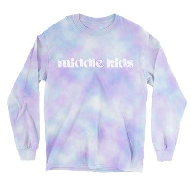 Middle Kids Logo Longsleeve (Blue/Purple Tie Dye)