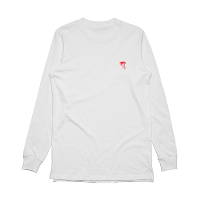 Palm Embroidered Longsleeve (White)