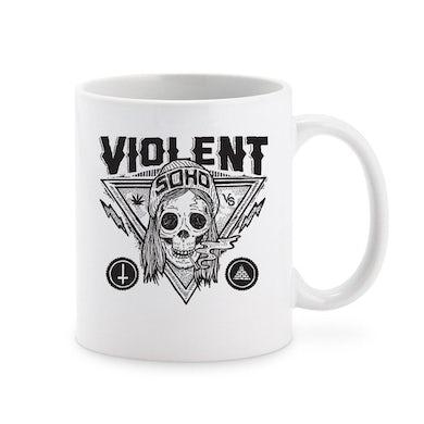 Blazin' Skull Ceramic Mug (White)
