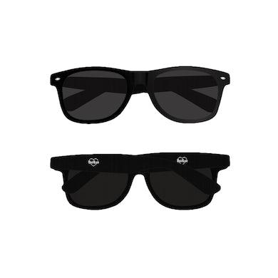 Bad / Love Barbed Wire Heart Sunglasses (Black)