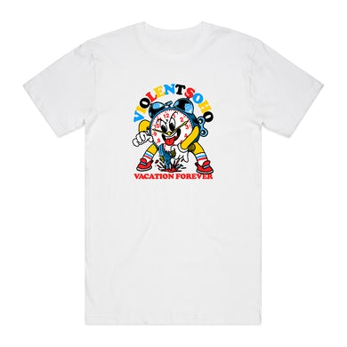 Violent Soho Vacation Forever Clock Tee (White)