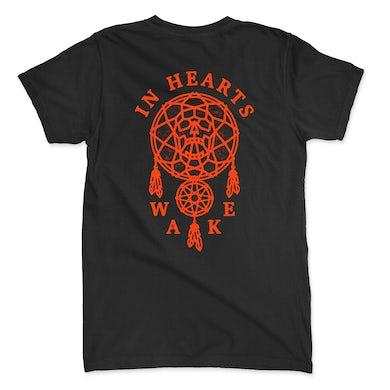 In Hearts Wake Skull Catcher Tee (Black/Orange)