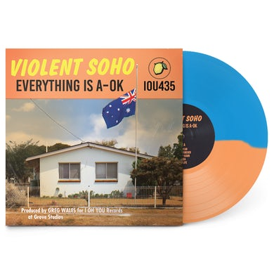 "Violent Soho Everything Is A-OK 12"" Vinyl (Half Clear Orange/Half Blue Opaque)"