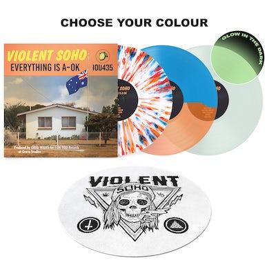 Violent Soho Everything Is A-OK Vinyl + Blazin' Skull Slipmat