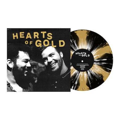 """Hearts of Gold 12"""" Vinyl (Black & Gold Pinwheel w/ White Splatter)"""