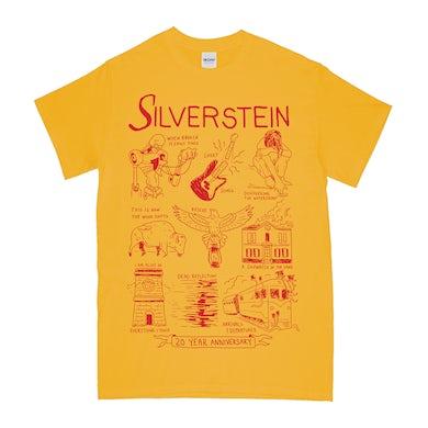 Silverstein 20th Anniversary Tee (Gold)