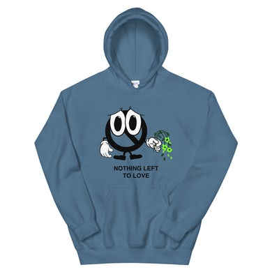 Sad Face Hoodie (Indigo Blue)