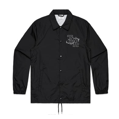 The Amity Affliction Barbed Wire Coach Jacket (Black)