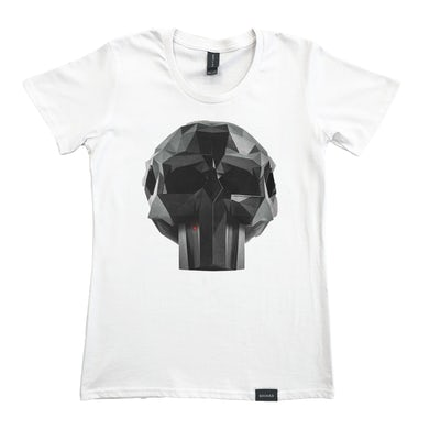 Shihad FVEY Skull Femme Fit Tee (White)