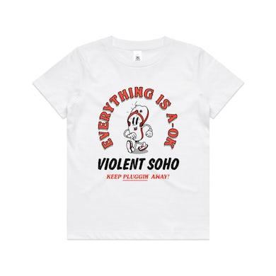 Violent Soho Keep on Pluggin' Kids Tee