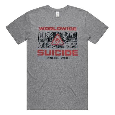 In Hearts Wake Worldwide Suicide Tee (Grey Marle)