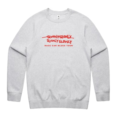 Slowly Slowly RCB Embroidered Crew (White Marle)