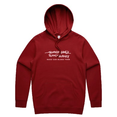 Slowly Slowly RCB Embroidered Hood (Cardinal Red)