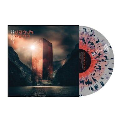 "Conduit 12"" Vinyl (Oxblood inner/Grey Outer with Purple & Orange Splatter)"