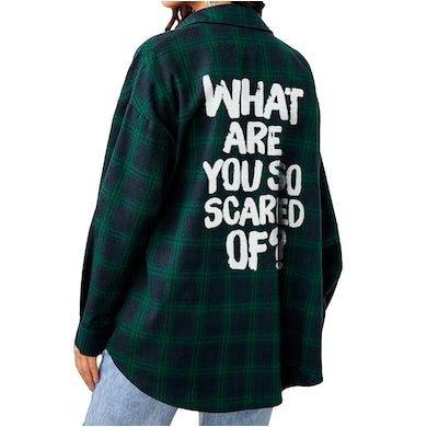 What Are You So Scared Of Flannel (Blue/Green Plaid)
