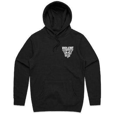 Violent Soho Blazin' Skull Hoodie (Black)