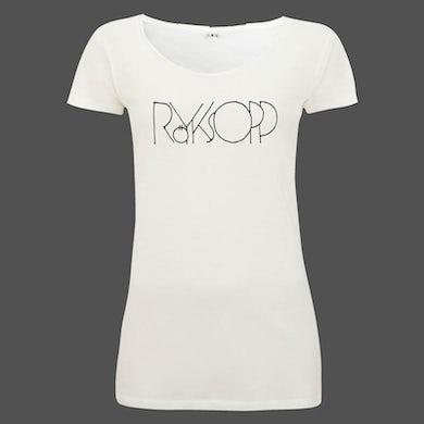 Royksopp White Raw Edge Logo T-Shirt Ladies