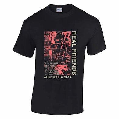 Real Friends Australian 2017 Tour Tee (Black)
