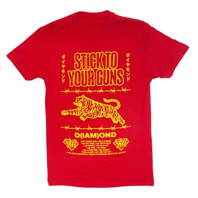 Stick To Your Guns Diamond Tiger Tee (Red)