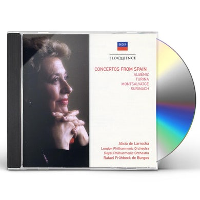 Alicia de Larrocha CONCERTOS FROM SPAIN CD