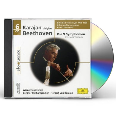 KARAJAN / BERLINER PHILHARMONIKER BETTHOVEN: SYM 1-9 / OVERTURES CD