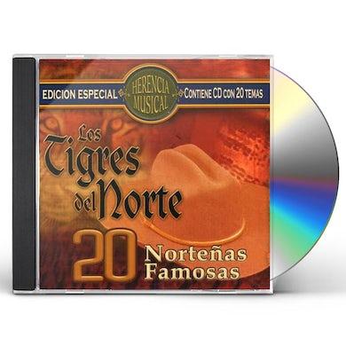 Los Tigres Del Norte   20 NORTENAS FAMOSAS CD