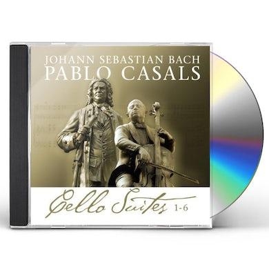 Johann Sebastian Bach BACH CELLO SUITES 1-6 PABLO CASALS CD
