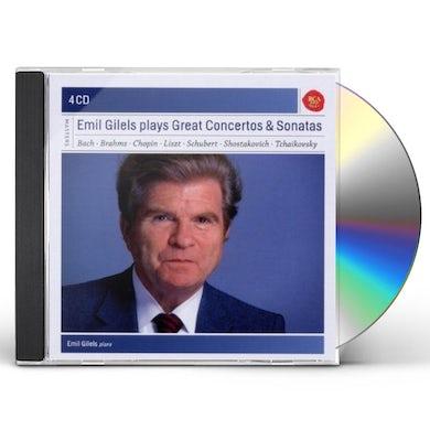 Emil Gilels PLAYS CONCERTOS & SONATAS CD