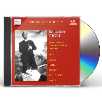Beniamino Gigli VOL. 9-1936-38 HMV RECORDINGS: CD