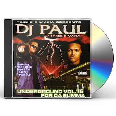 DJ Paul UNDERGROUND 16: FOR DA SUMMA CD